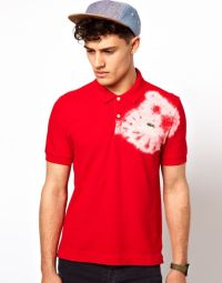 Lacoste Polo Shirt with Tie Dye in Red for Men | Lyst