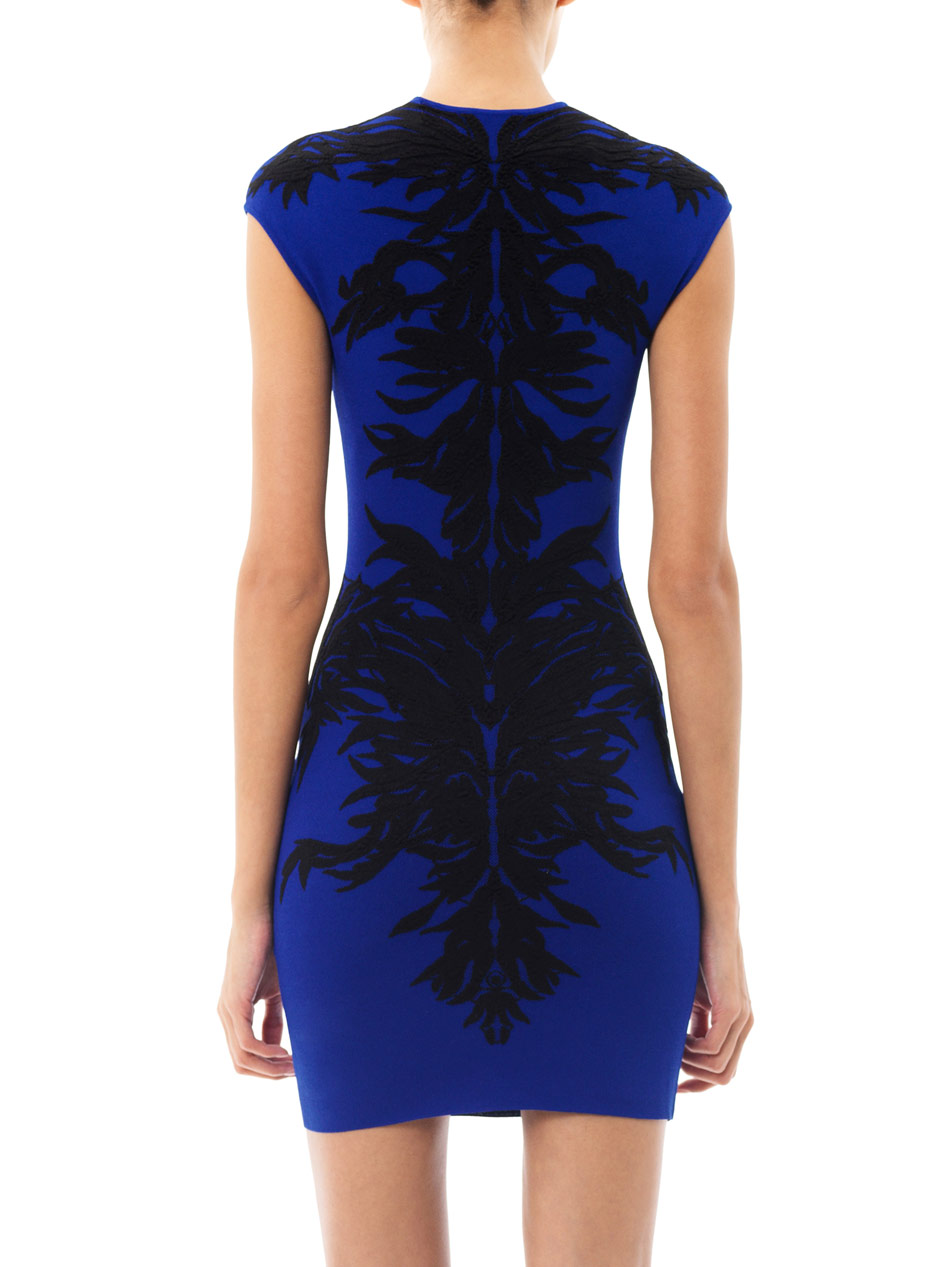 Lyst Alexander Mcqueen Spine Lace Jacquard Bodycon Dress