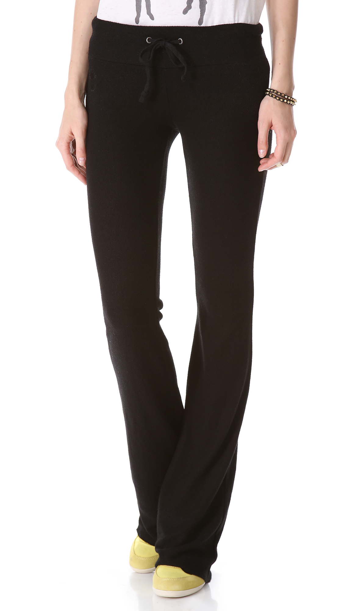 Wildfox Synthetic Basic Flare Sweatpants in Black - Lyst