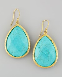 Lyst - Panacea Turquoise Teardrop Drop Earrings in Blue
