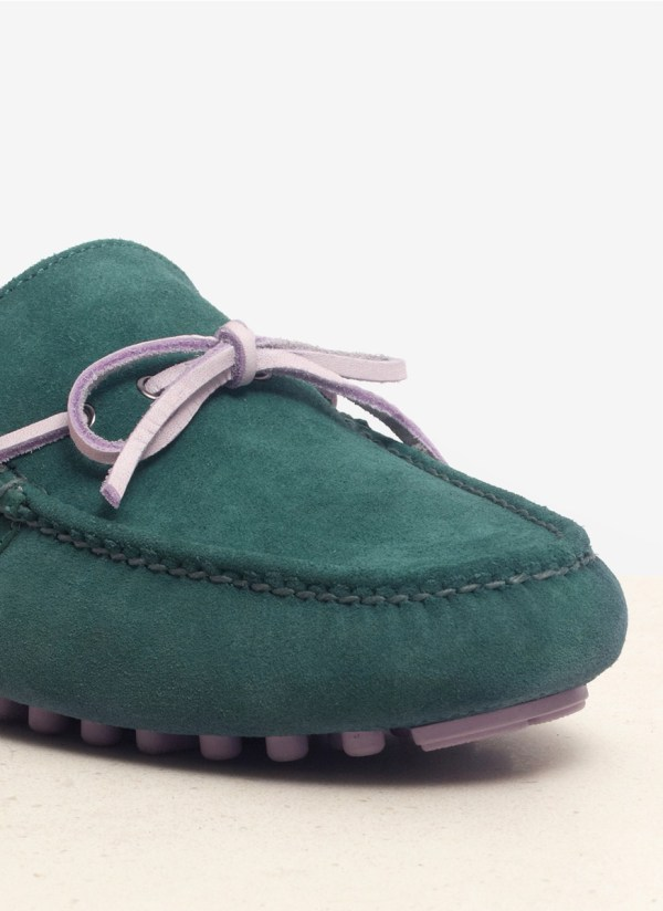 Cole Haan Suede Air Grant Driving Moccasin Shoes In Green Men - Lyst
