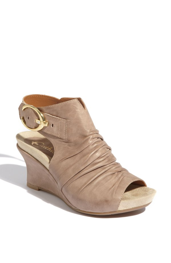 Earthies Bonaire Wedge Sandal In Gray Grey Taupe Lyst