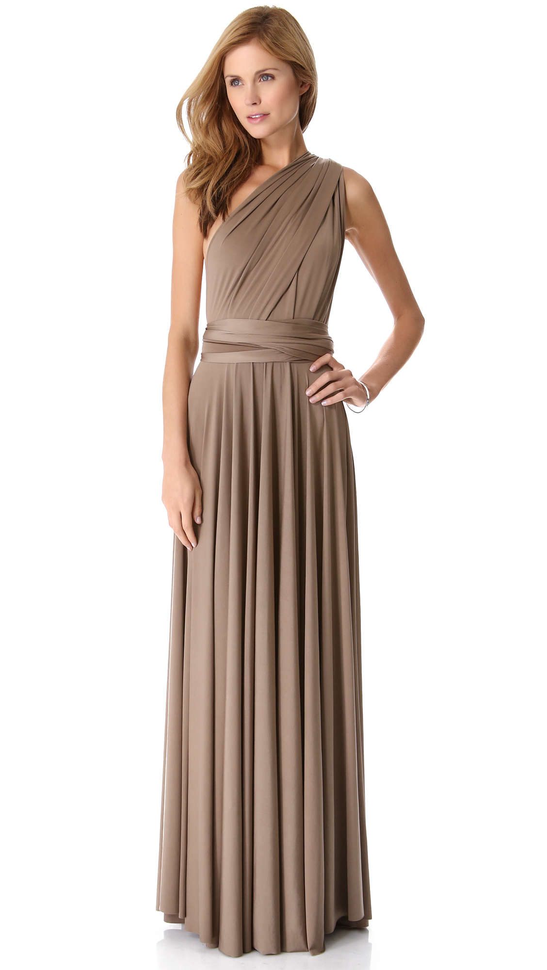 Lyst  Twobirds Convertible Maxi Dress in Brown