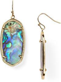 Kendra Scott Elle Earrings in Gold (abalone shell) | Lyst