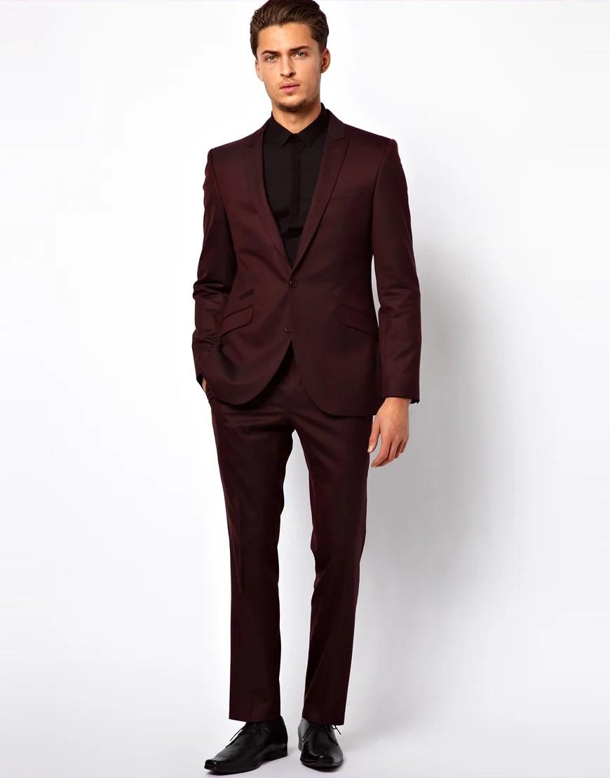 Lambretta Suit Jacket in Slim Fit in Red for Men  Lyst