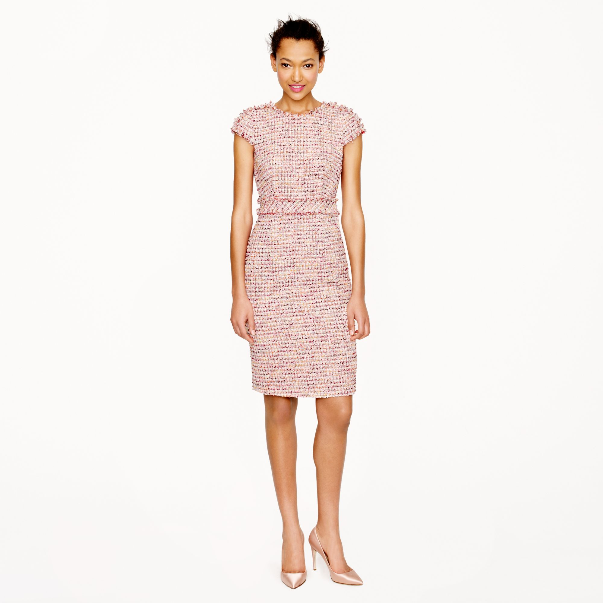 Jcrew Collection Ratti Candy Tweed Dress In Pink Lyst