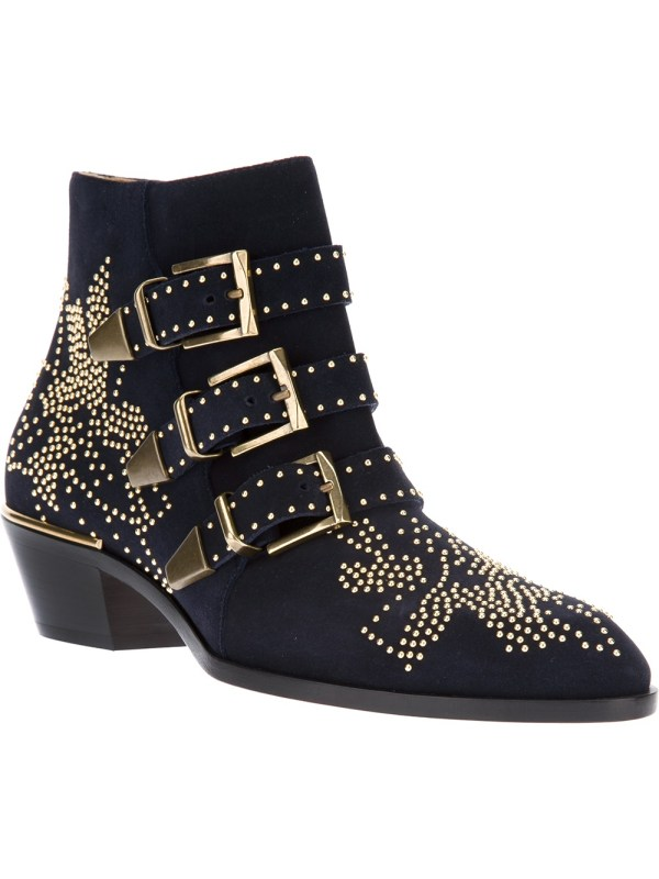 Lyst - Chlo Susanna Ankle Boot In Black
