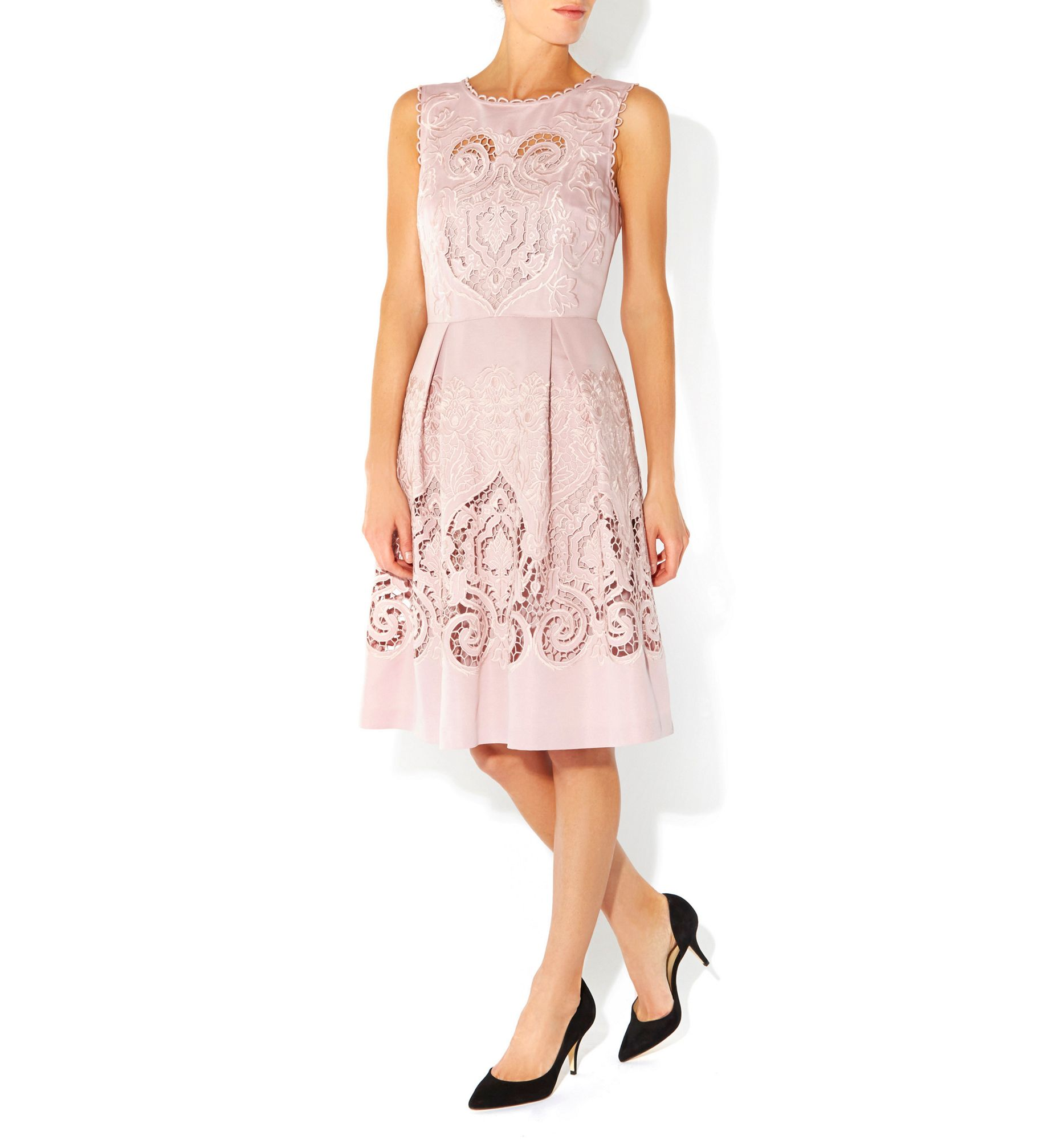 Hobbs Maida Vale Dress In Pink Lyst