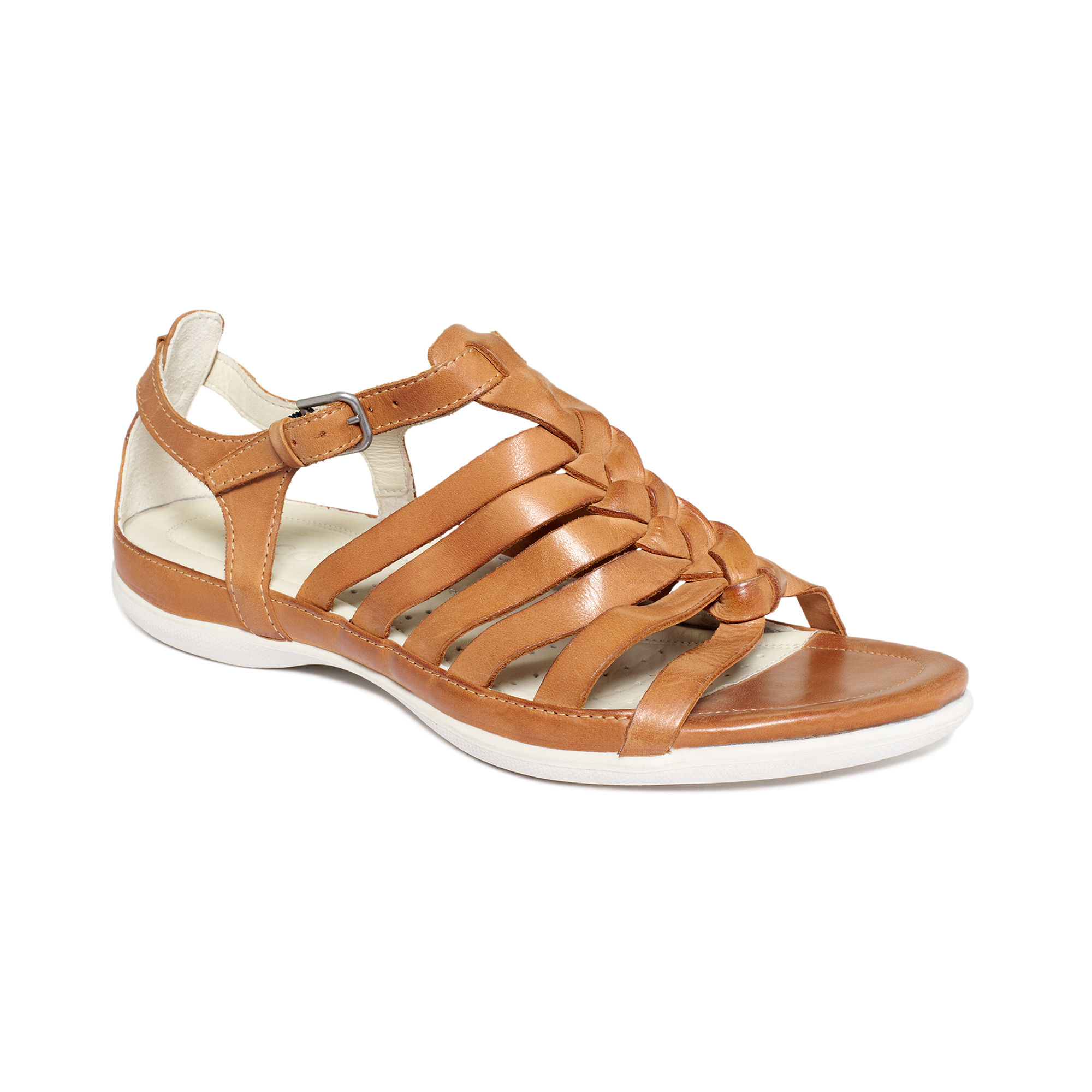 Brown Flats With Buckle
