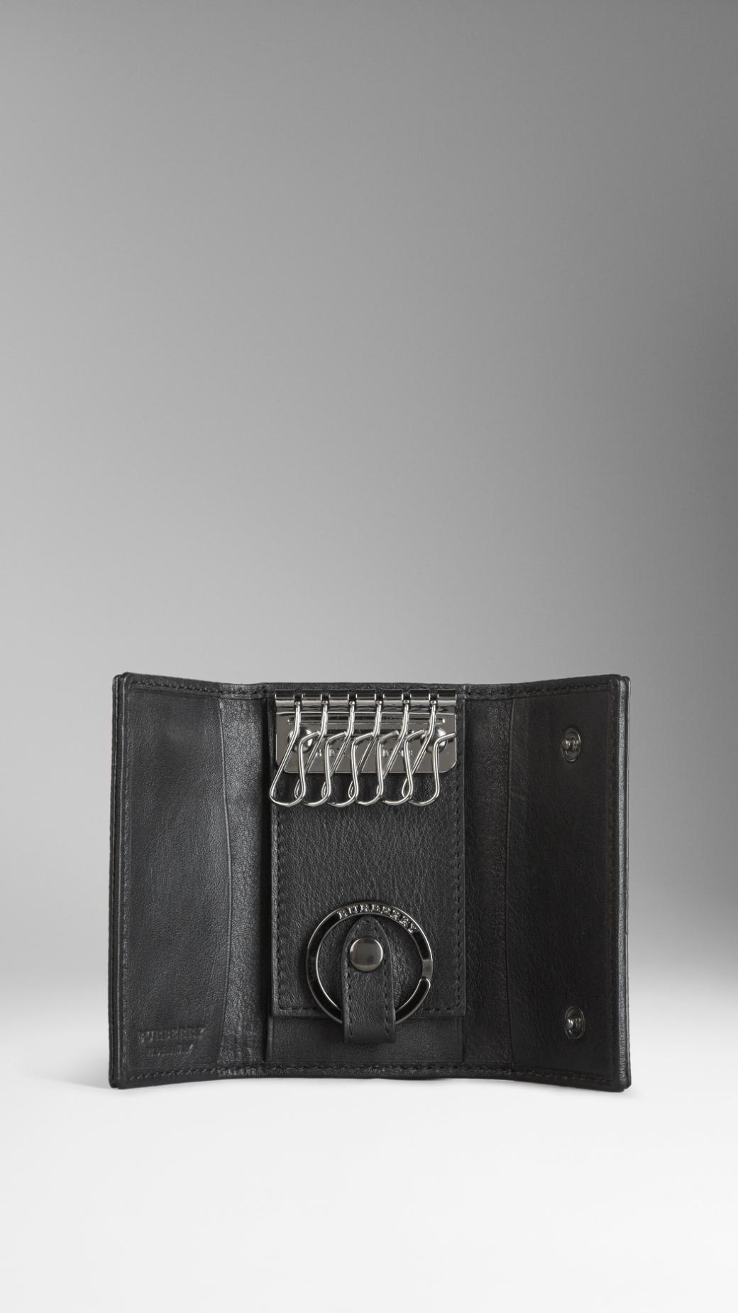 Burberry London Leather Key Case In Black For Men Lyst