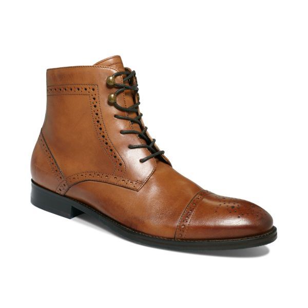 Johnston & Murphy Tyndall Captoe Lace Boots In Tan Brown Men - Lyst