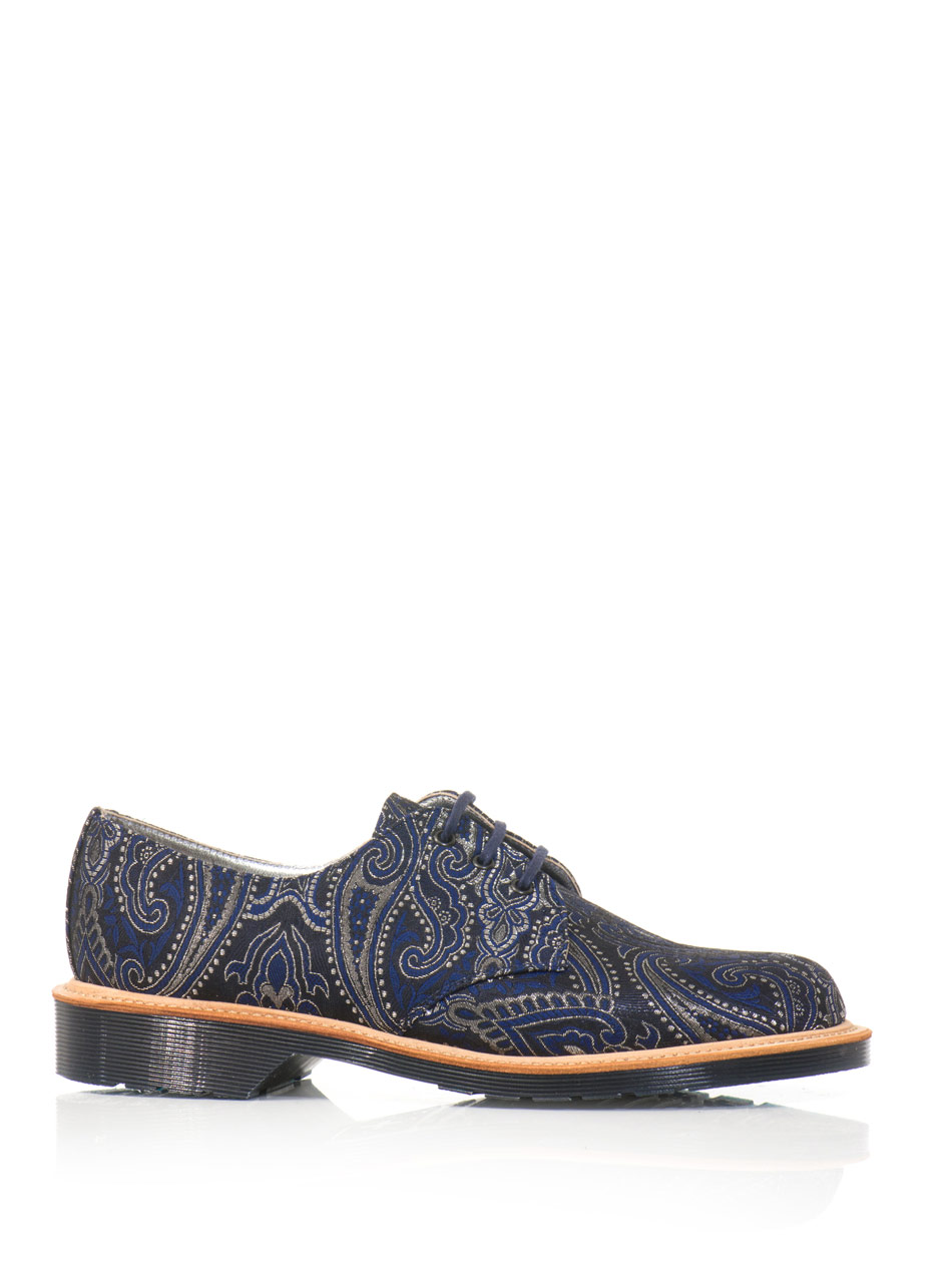 Lyst Dr Martens Lester Paisley Shoes In Blue