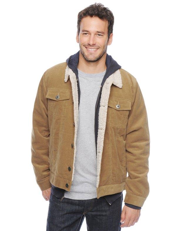 Splendid Corduroy Jacket In Natural Men - Lyst