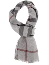 Burberry Checked Scarf in Gray for Men | Lyst