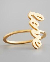 Lyst - Jennifer Zeuner Sideways Cursive Love Ring in Metallic