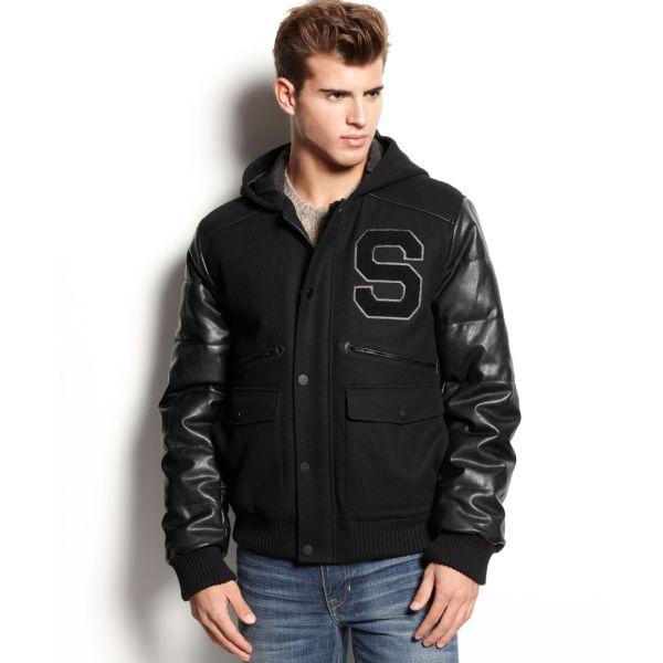Sean John Varsity Jacket In Black Men Lyst