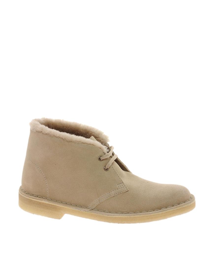 Clarks Sand Desert Hug Boot In Brown Sand Lyst