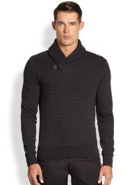 polo ralph lauren wool shawl-collar sweater