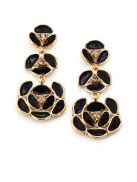 Black And Gold Drop Earrings 2018 Gold Drop Earrings For ...