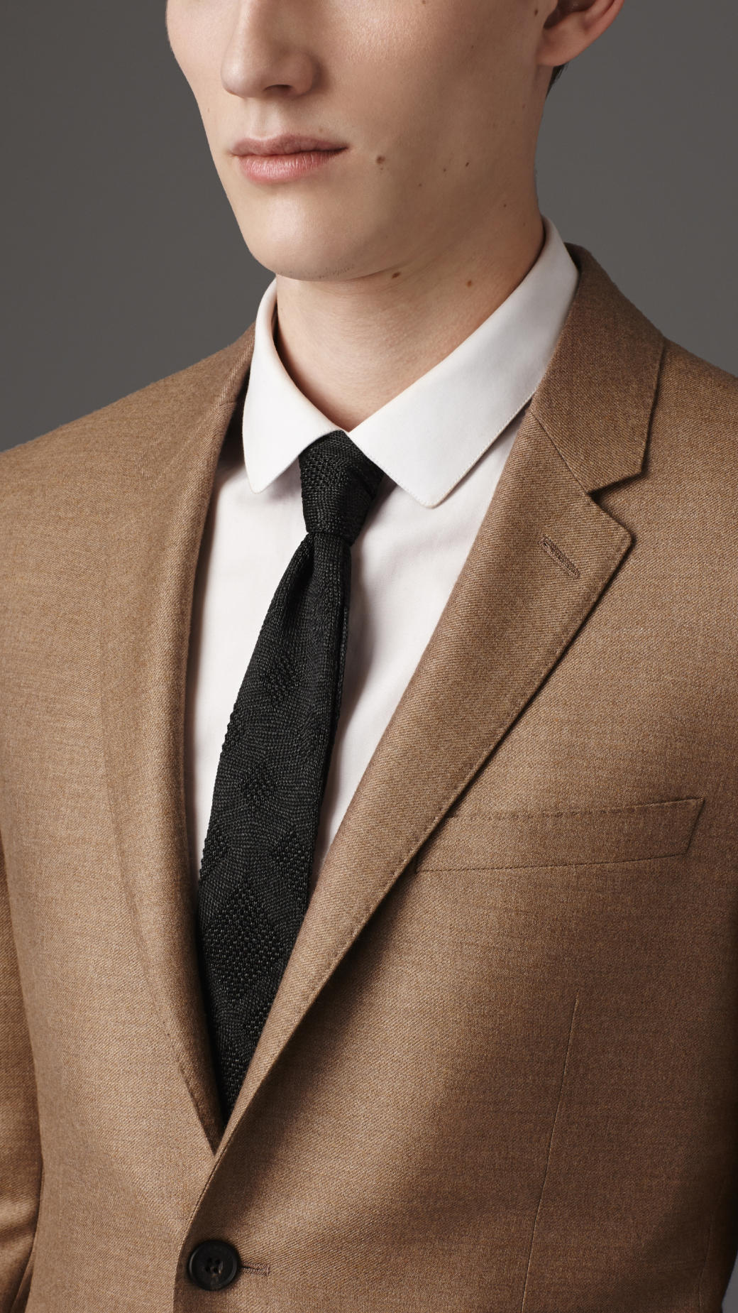 Lyst  Burberry Slim Fit Lightweight Cashmere Suit in Brown for Men