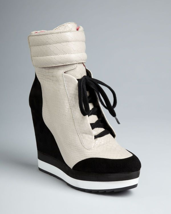 Boutique 9 High Top Wedge Sneaker Booties Whispers In