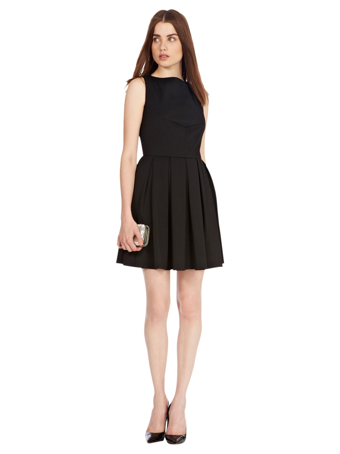 Coast Lauranna Fit and Flare Dress in Black  Lyst