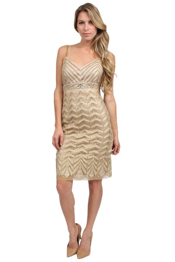 Sue Wong Beaded Short Dress