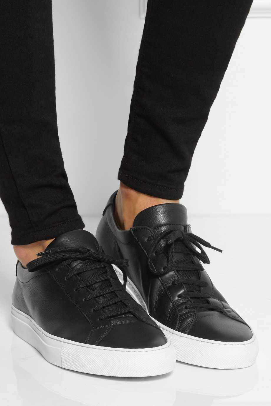 Lyst  Common projects Achilles Leather Sneakers in Black