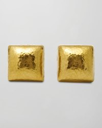 Lyst - Gurhan Dome 24k Gold Square Stud Earrings in Metallic