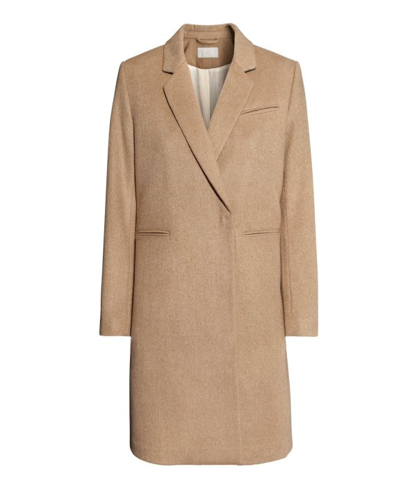 & Coat In Natural - Lyst