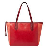 Fossil Sydney Leather Shopper in Red (REAL RED) | Lyst