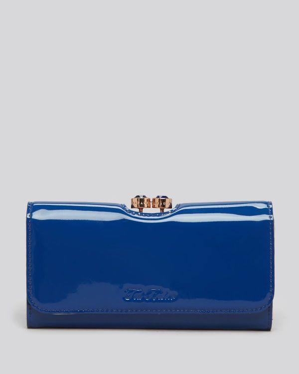 Lyst - Ted Baker Wallet Mirrored Leather In Blue