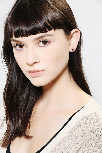 Urban Outfitters Bing Bang Tiny Heart Stud Earrings In
