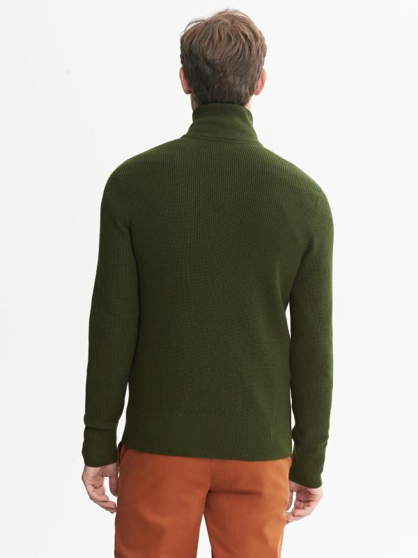 Banana Republic Modern Ribbed Zip Sweater Black Men - Lyst