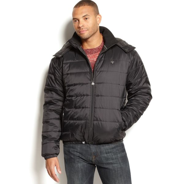 Lrg Core Collection Puffy Jacket In Black Men Lyst