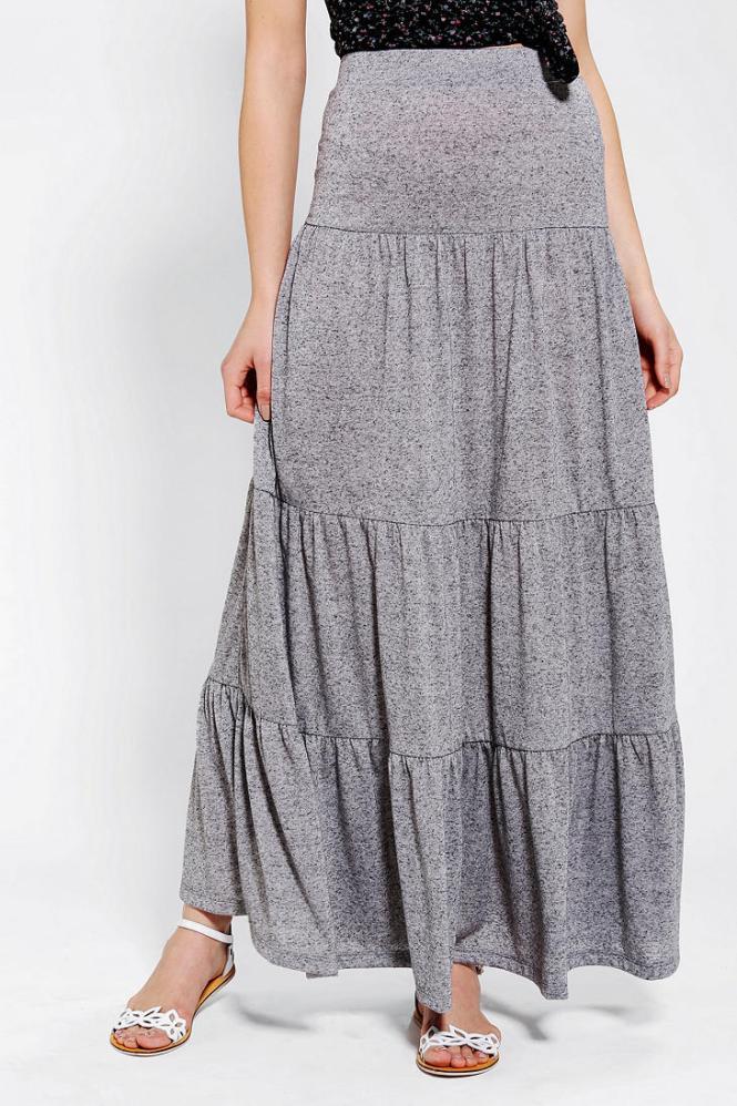 Knit Maxi Skirt - Skirts