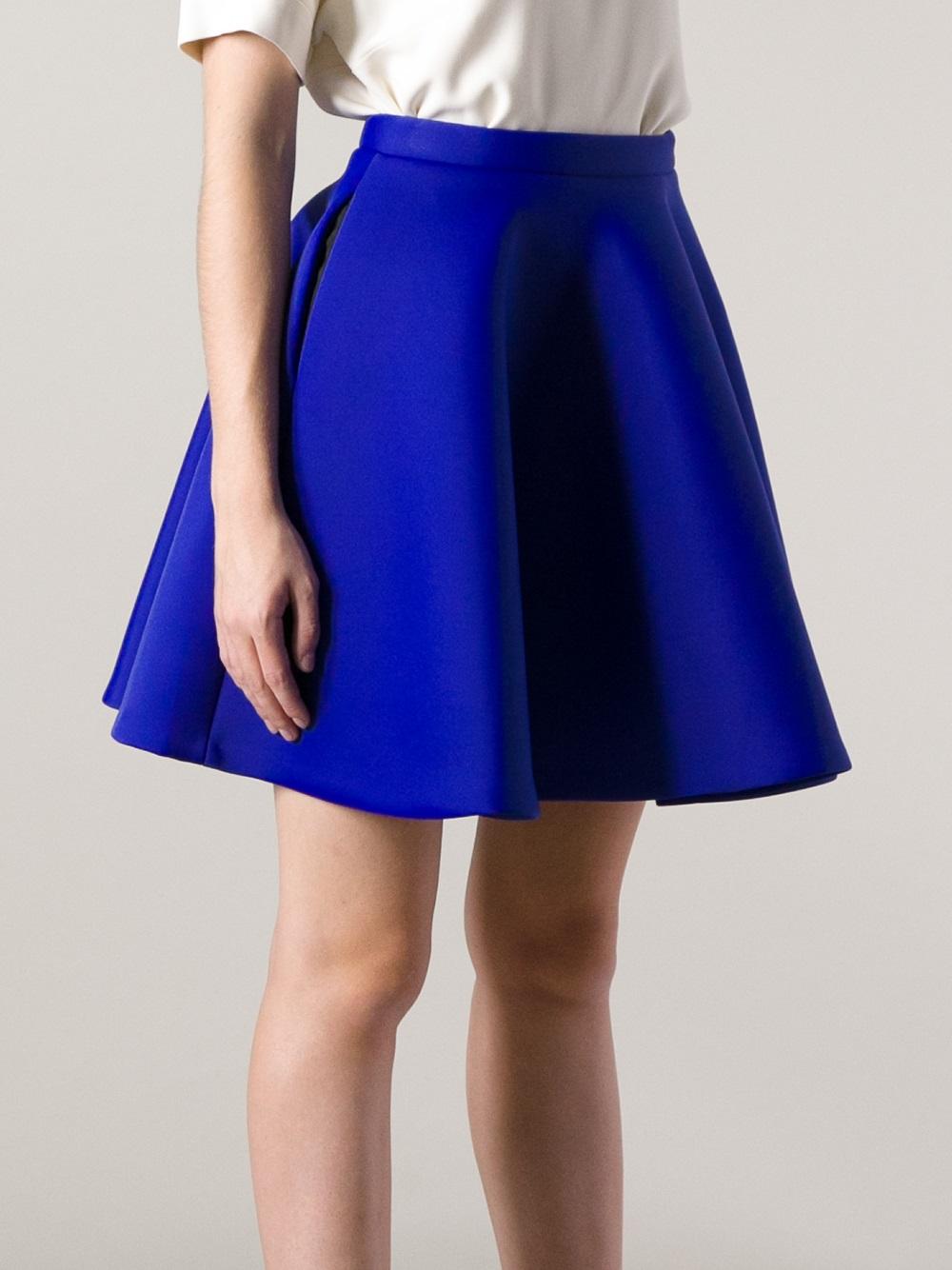 Lyst  Msgm Circle Skirt in Blue