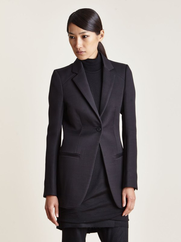 Lyst - Thamanyah Womens Long Shoulder Panel Blazer In Blue