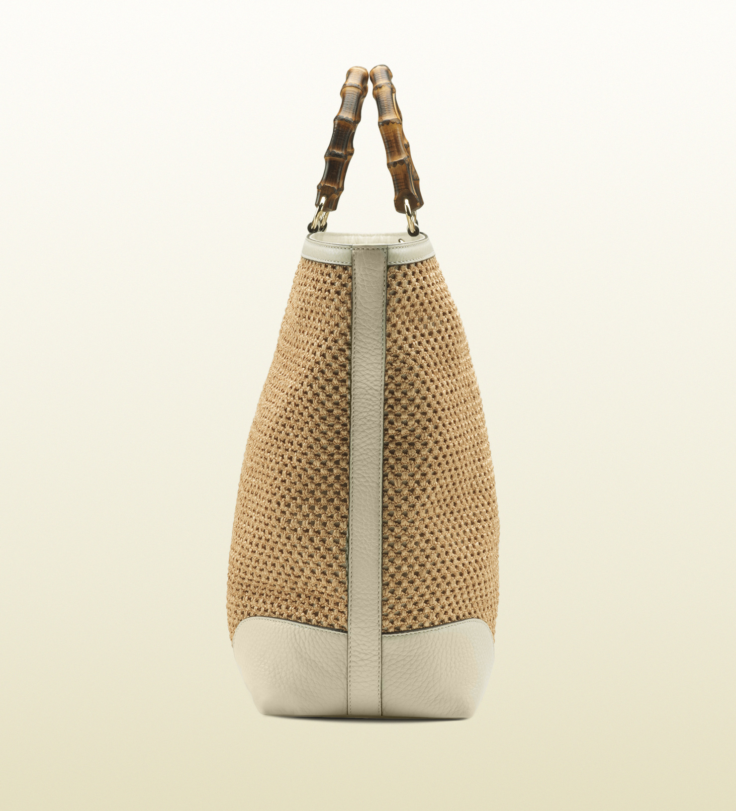 43848c1705a Gucci Bamboo Shopper Straw Tote In Natural Lyst