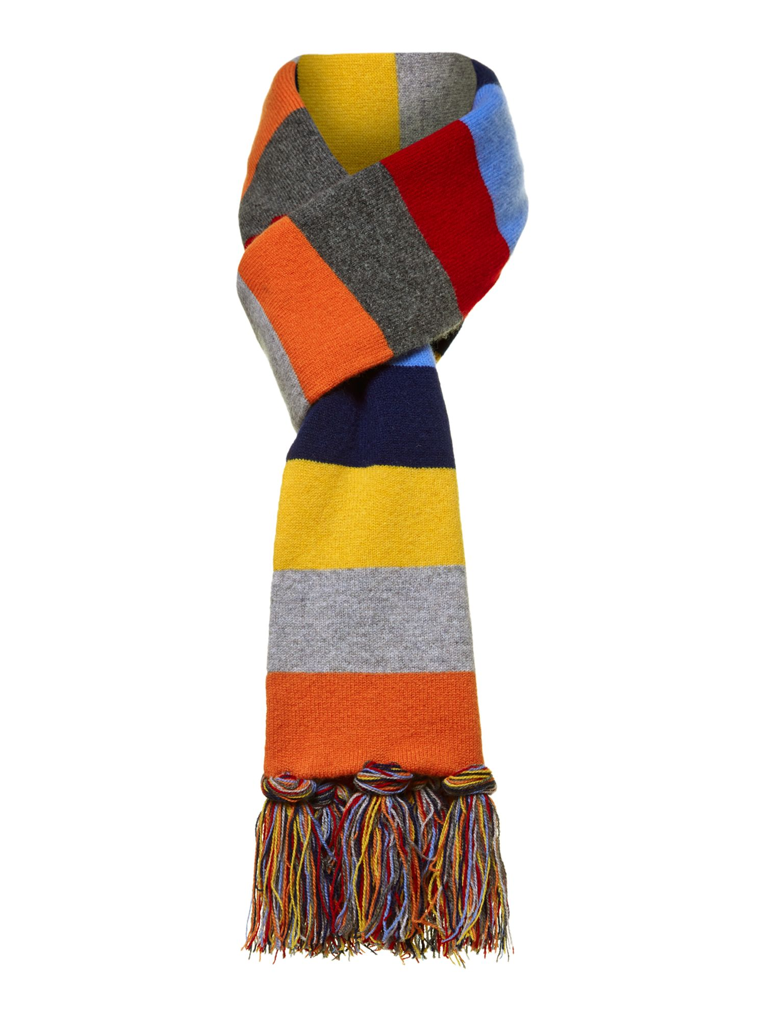 Hackett Multi Stripe Scarf In Blue For Men Lyst