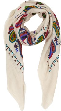 Lyst - The Elder Statesman Paisley Pashmina Scarf in White ...