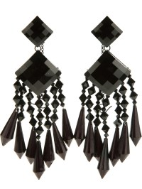 Black Crystal Chandelier Earrings