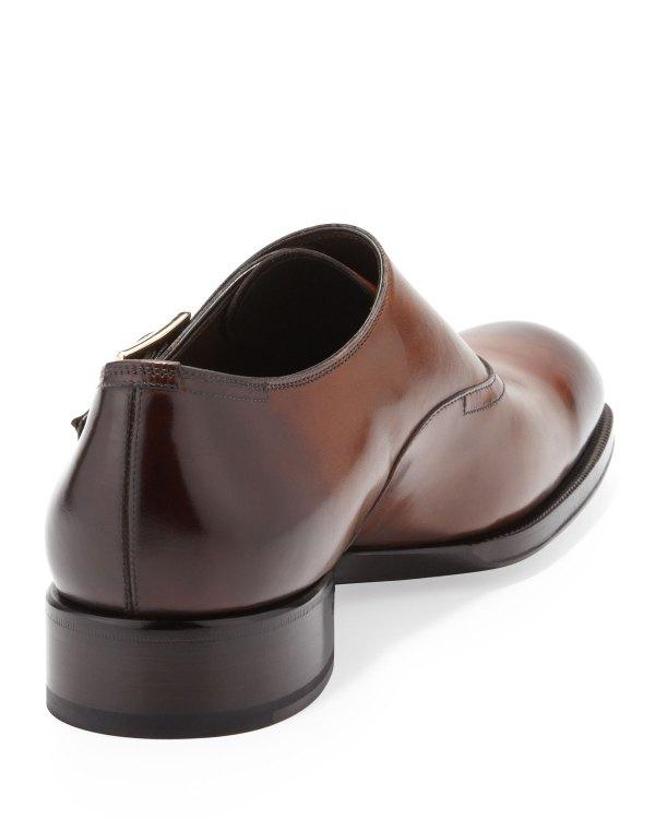 Tom Ford Edward Singlemonk Shoe In Brown Men Lyst