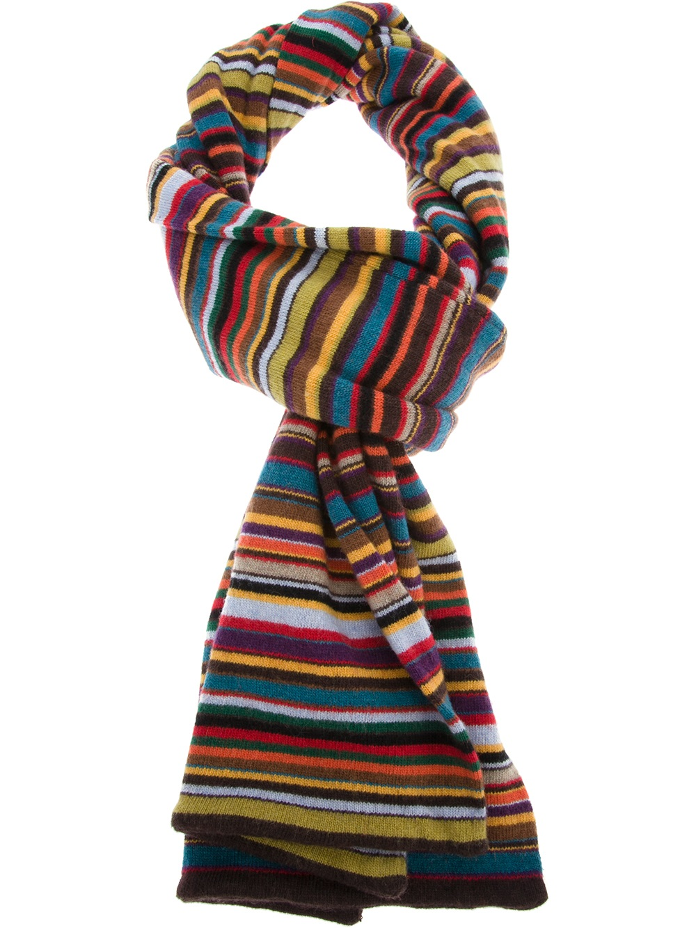 Lyst Paul Smith Striped Scarf For Men