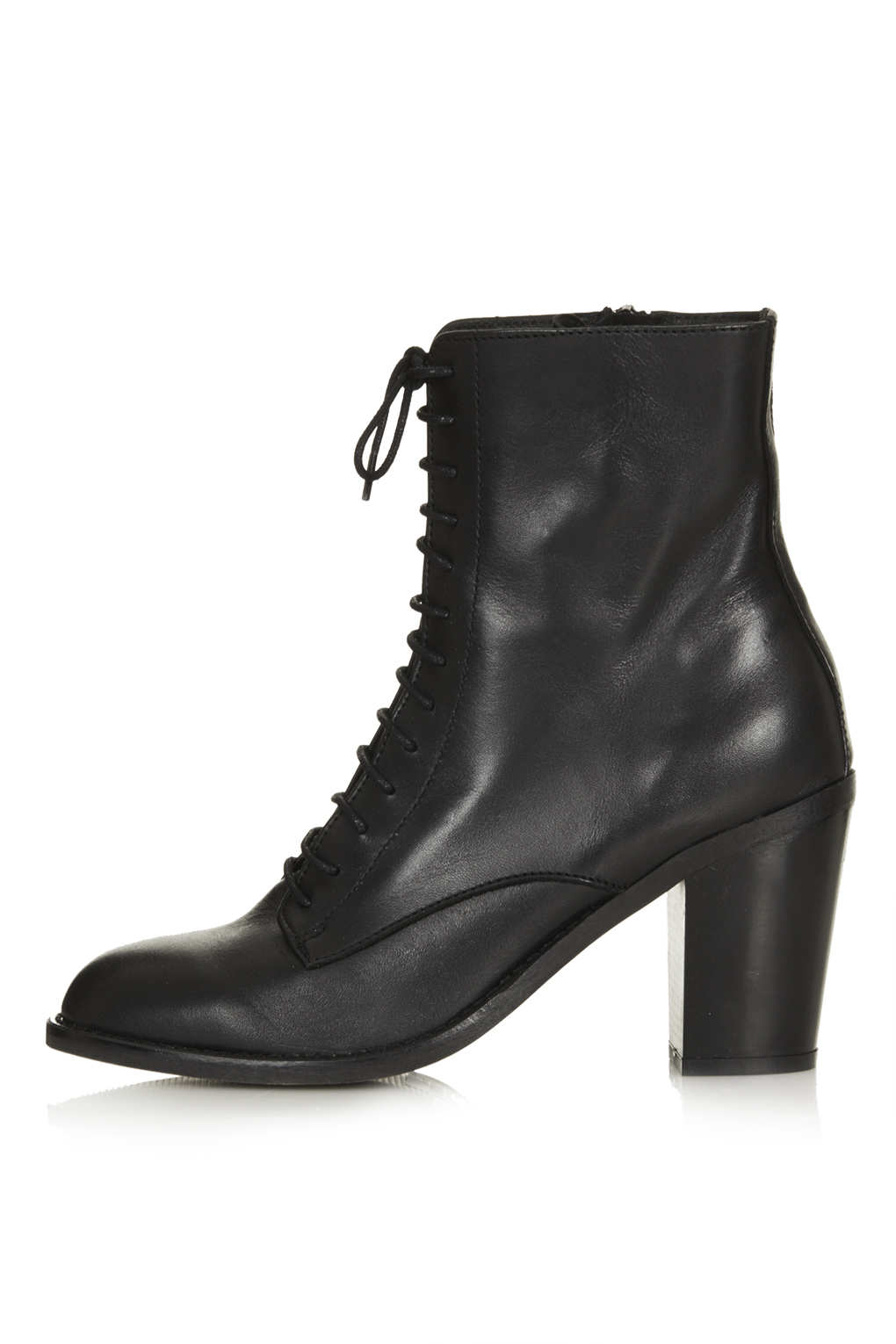 Lyst  Topshop Abra Lace Up Witch Boots in Black