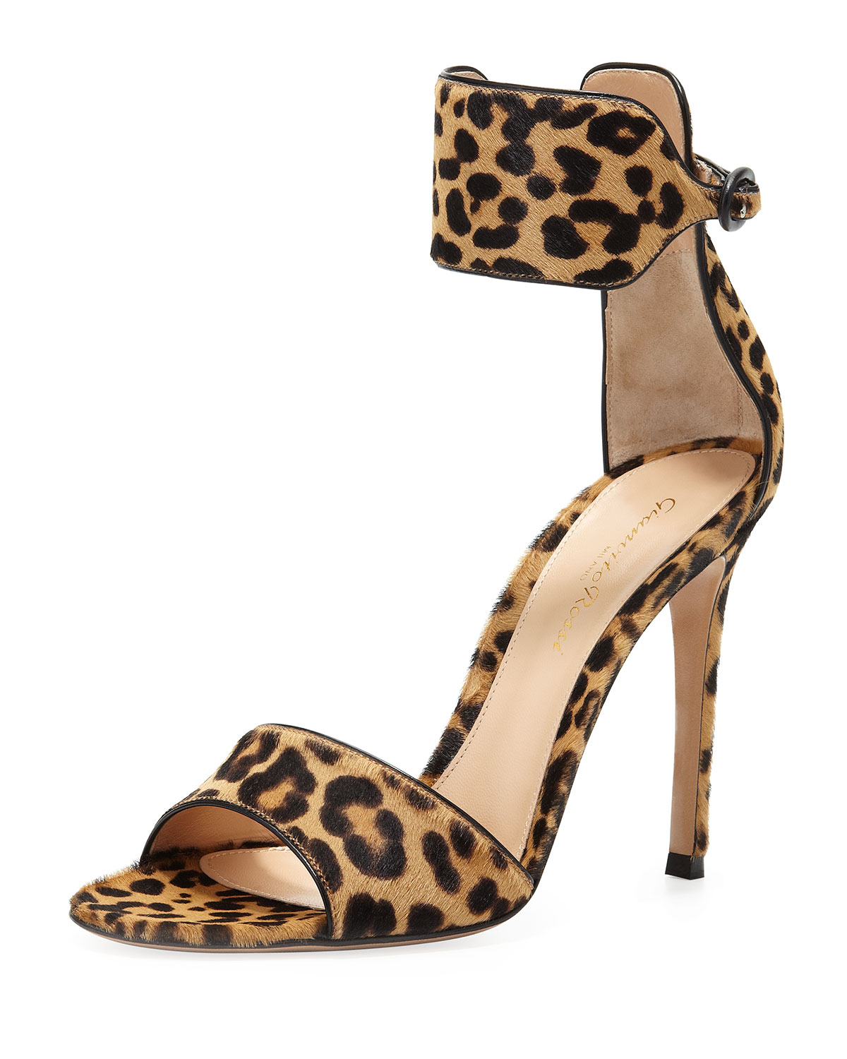 cheetah print heel chair covers and sashes for sale uk gianvito rossi leopardprint calf hair anklewrap sandal lyst