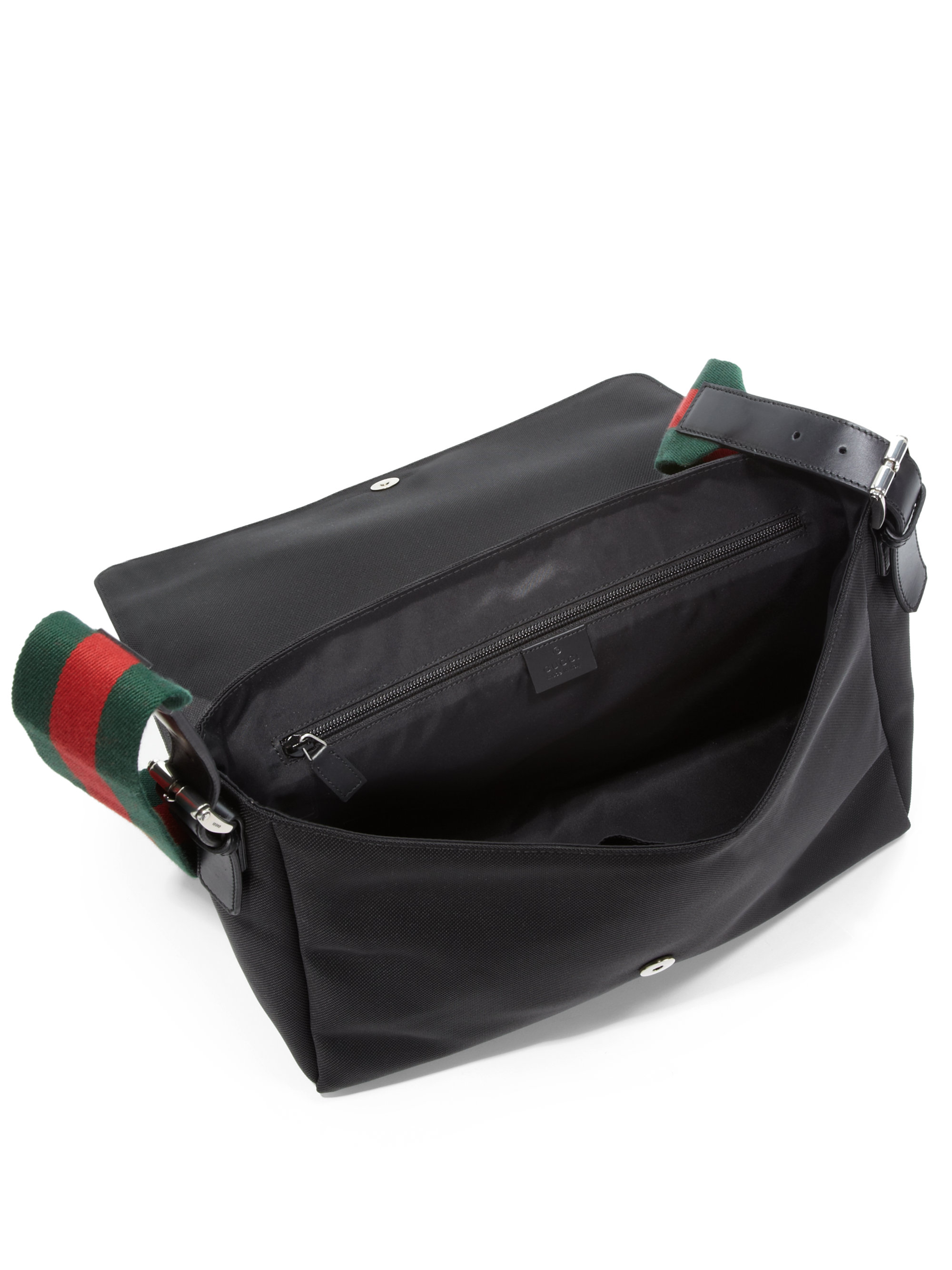 Gucci Techno Canvas Messenger Bag in Black for Men - Lyst