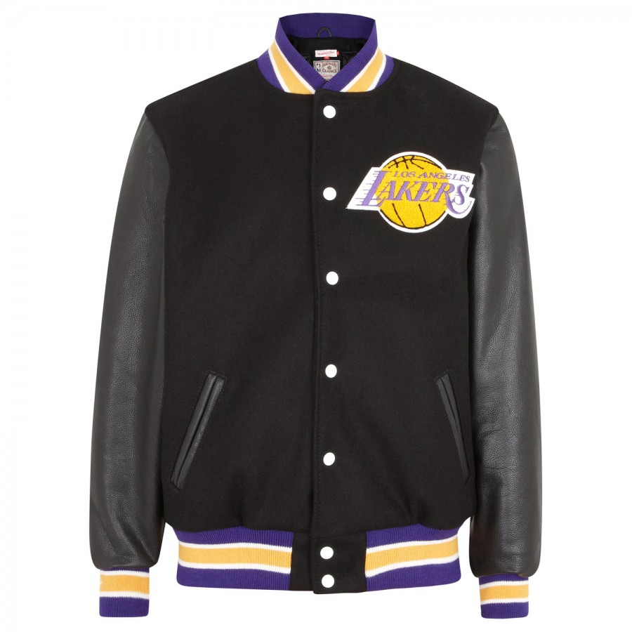 Mitchell  Ness Los Angeles Lakers Leather and Wool