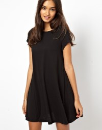 Lyst - Glamorous Swing Dress Short Sleeve in Black