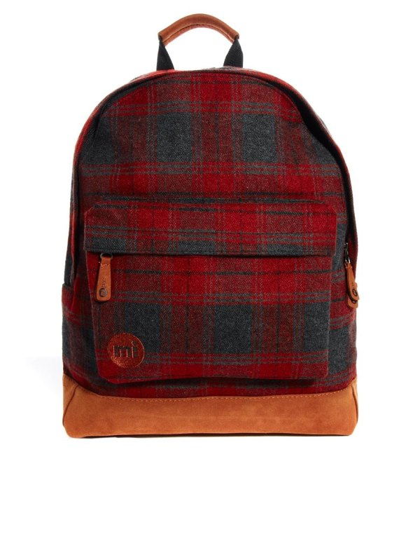 Mi-pac Plaid Backpack In Red Men - Lyst